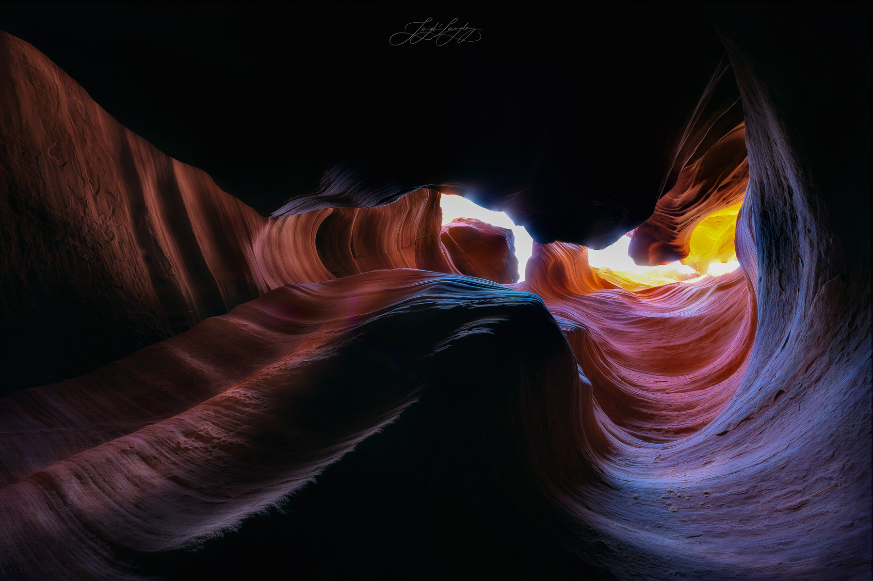 This was taken in Arizona. It is NOT from Antelope Canyon. They had banned photography for a while. I loved the play of different...